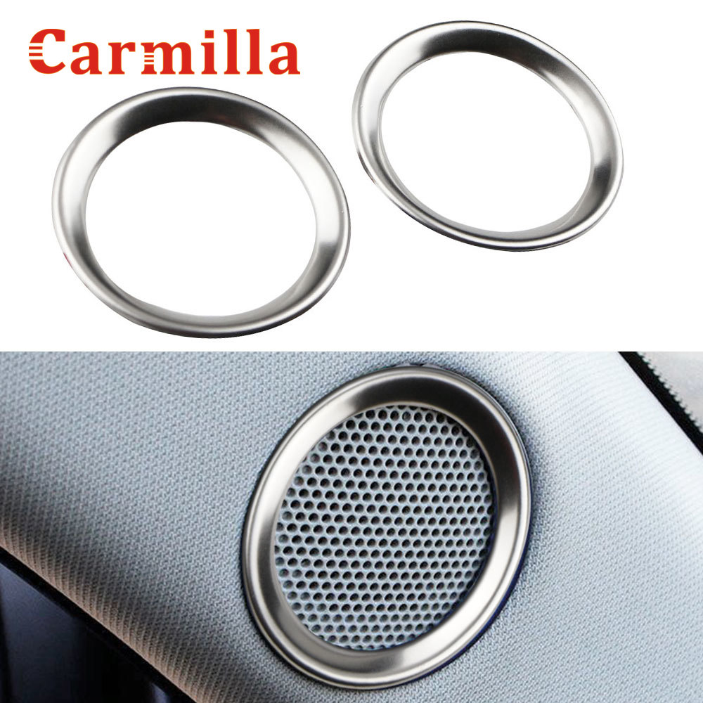 Carmilla For <font><b>Mazda</b></font> CX-5 <font><b>CX5</b></font> 2017 - <font><b>2019</b></font> Speaker Sound Ring Trim Cover Stainless Steel Decoration Interior Mouldings <font><b>Accessories</b></font> image