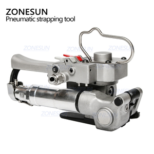 Image 3 - ZONESUN AQD 19 Portable Pneumatic PET Strapping Tool,banding Tool Binding Packing Machine For 12 19mm PP Plastic Strap