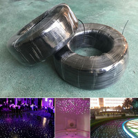 700M/roll High quality solid core 1.5mm black PMMA Plastic end glow Fiber Optic cable