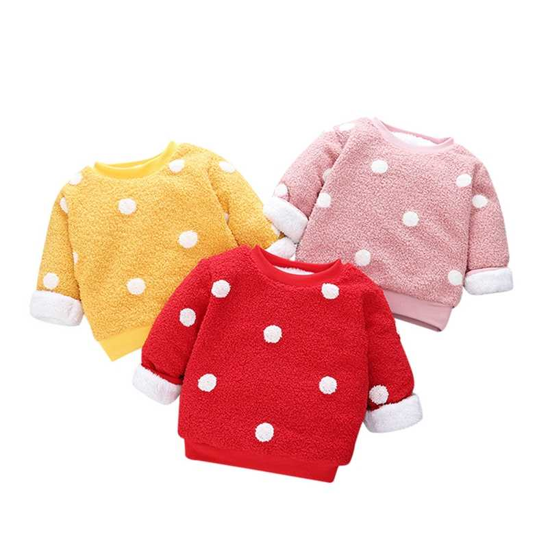 Kleinkind Kinder Pullover Baby Junge Mädchen Fleece Herbst Winter Dicke Gebürstet Pullover Mantel Tops Warme Kleidung Nette Outfits Mode