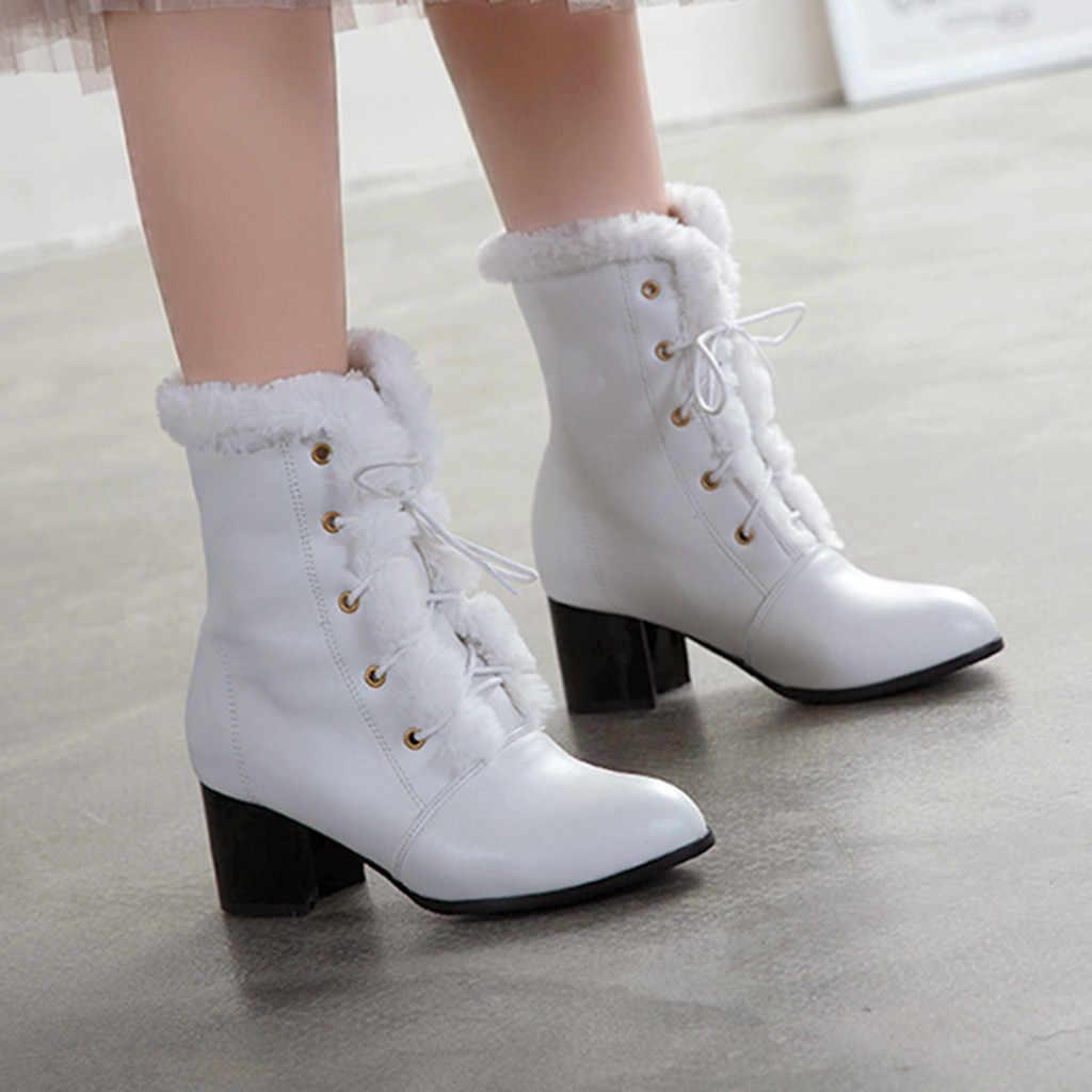Elegant หิมะรองเท้าผู้หญิงข้อเท้าฤดูหนาวรองเท้าบู๊ทเซ็กซี่สั้น Boot เลดี้สไตล์เซ็กซี่ส้นสูงชี้รองเท้า