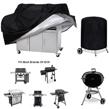 Bbq-Cover Rain-Protective Weber Round Heavy-Duty Waterproof Outdoor Dust Black
