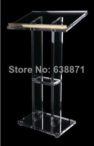 Free Shiping Clear Modern Design Lectern, Podium , Acrylic Lectern Podium,plastic Church Pulpit