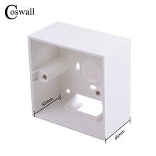 Coswall 42 мм углубляет утолщенную внешнюю монтажную коробку 86 мм* 86 мм* 45 мм для настенных выключателей и розеток применяются для наружной поверхности стены