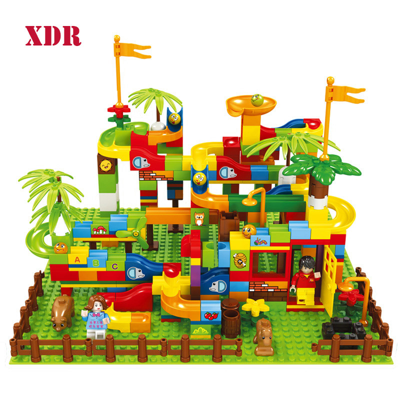 Labyrinth Tall Track Building Block Children Toy DIY And Compatible Forest Slide Castle Building Block Toy For Boy Gift
