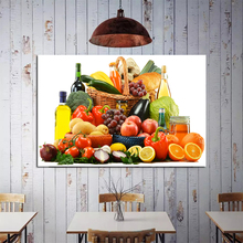 Fruits And Vegetables Art Poster Print Wall Picture Coloring Canvas Painting For Home Kitchen Decoration Unique Gift