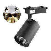 Schwarz Track LED Licht COB Schiene Strahler Lampe Tracking Leuchte Für Shop Shop Mall Ausstellung|Deckenstrahler|   -