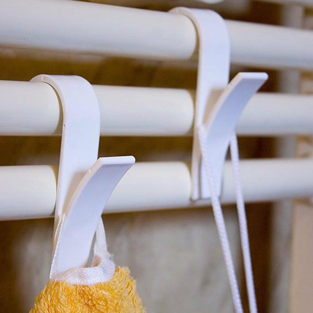 4/6pcs High Quality Hanger For Heated Towel Radiator Rail Bath Hook Holder Clothes Hanger Percha Plegable Scarf Hanger
