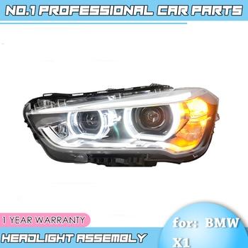 car accessories For BMW X1 Headlight 2016 2017 2018 x1 Head lamp LED Angel Eyes DRL Hi Low Beam Bi Xenon Lens HID Front lam