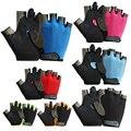 Новые велосипедные перчатки, велосипедные пешеходные Нескользящие перчатки с защитой от пота, 7 цветов, перчатки с открытыми пальцами, дыша...