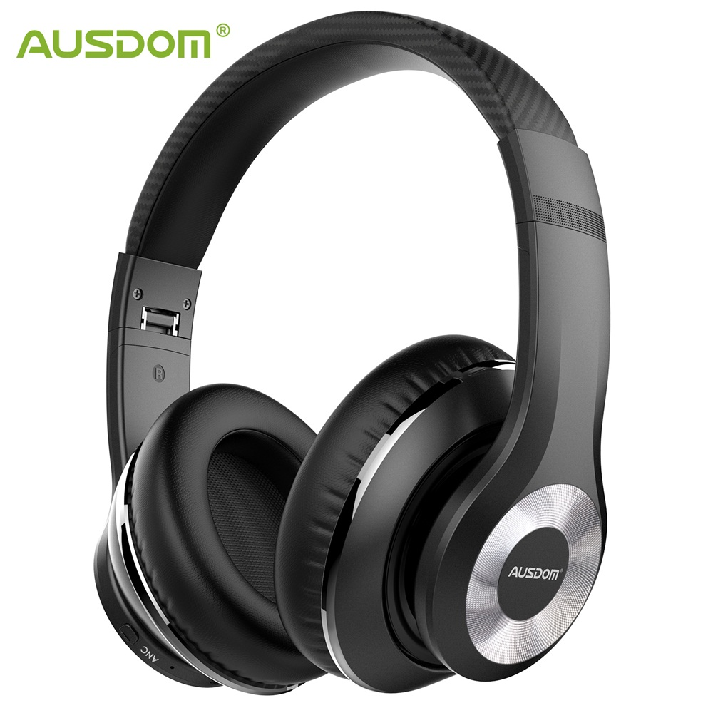 Ausdom ANC10 Active Noise Cancelling Bluetooth Wireless Headphones Foldable 20H Play time Hifi Deep Bass Bluetooth Headset-in Phone Earphones & Headphones from Consumer Electronics    1