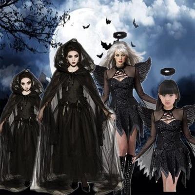 Girls witch zombie costume