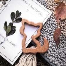 Let'S Make 10Pcs Baby Wood Teether Animals Shape Elm Olive O