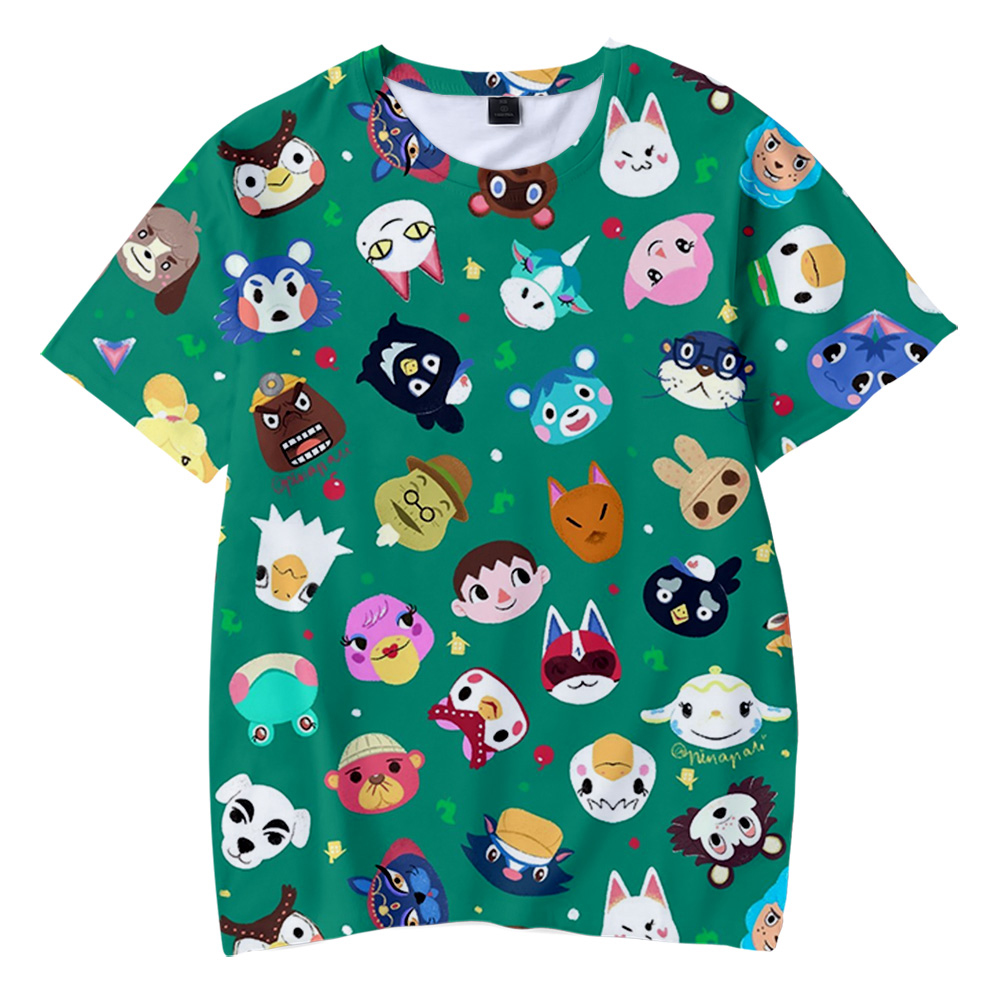 2020 Animal Crossing 3D Printed Children T Shirt Fashion Spring/Summer Short Sleeve Tshirt Harajuku Streetwear For Kids