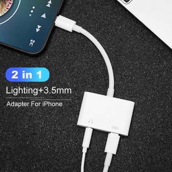Adapter 2 In 1 for Apple IPhone XS MAX XR X 7 8 Plus 11pro 3.5mm Jack Earphone Adapter Aux Cable for IOS 12 Phone Accessories