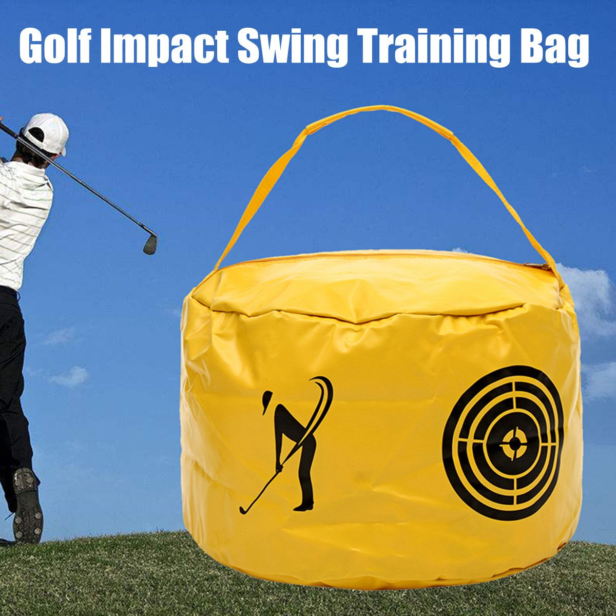 Golf Power Impact Swing Bag Beginner Trainer Exercise Package Multifunctional Golf Training Aids Practice Smash Hit Bag Goods