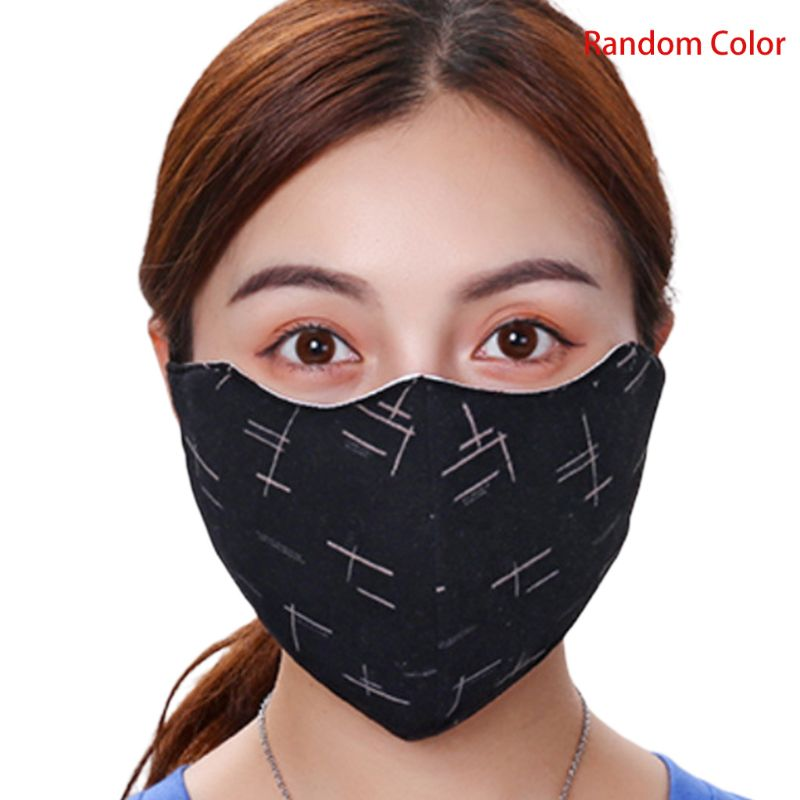 Unisex Dustproof Windproof Mouth Mask Stripes Print Washable Sport Mouth-muffle A69C