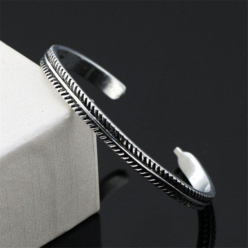 Bracelet argent Vintage épi 3