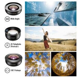 Image 4 - Apexel 5 em 1 kit lente da câmera do telefone profissional hd olho de peixe lente macro super grande angular para xiaomi redmi nota 5 pro iphone x 7 s