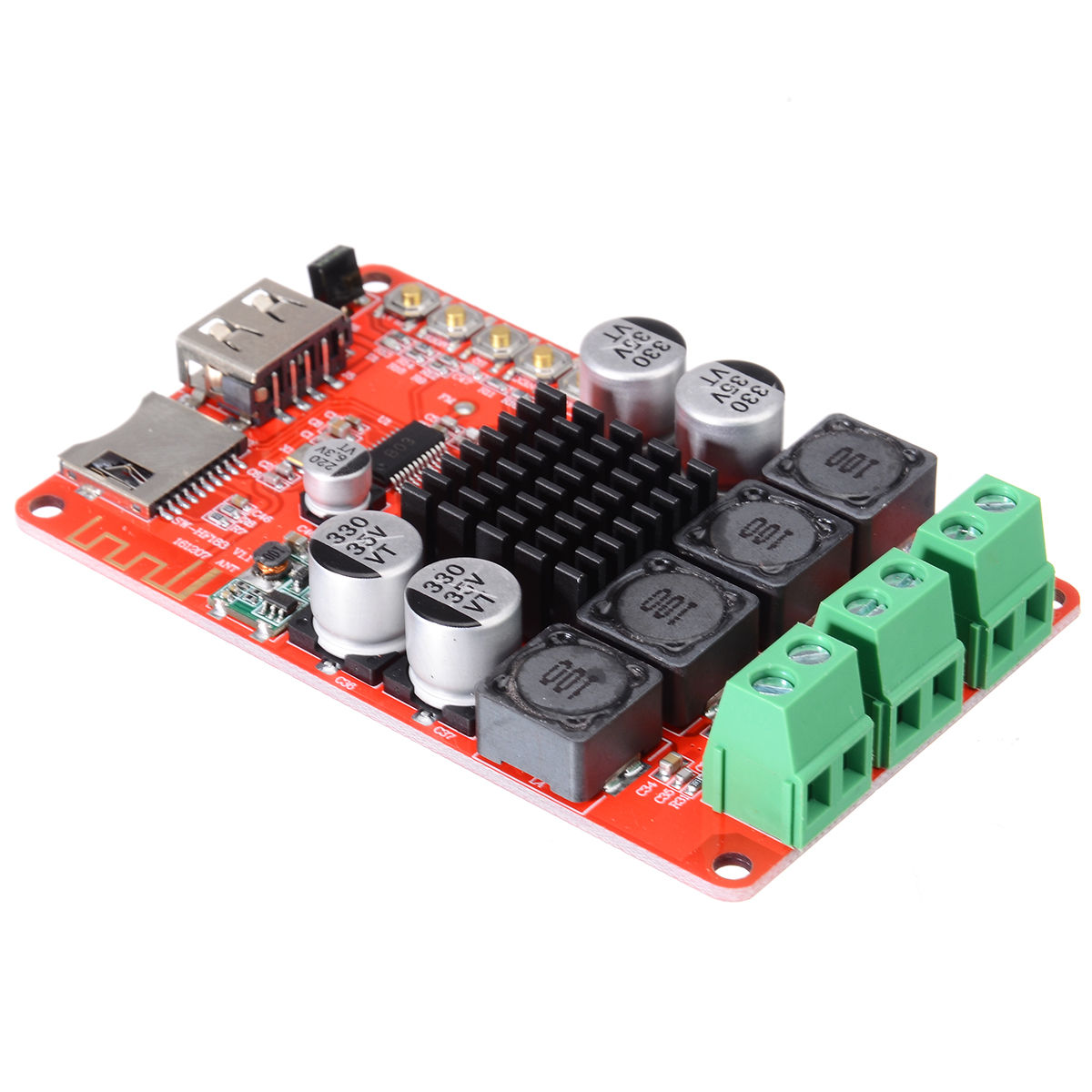Image 4 - TPA3116 Stereo Speaker Amplifiers 2X50W bluetooth Audio Receiver Amplifier TF Card Decoder With Remote Control-in Amplifier from Consumer Electronics