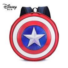 Sac à dos Disney Captain America pour enfants, Mini sac d'école rond de voyage, sacs imperméables pour garçons et filles