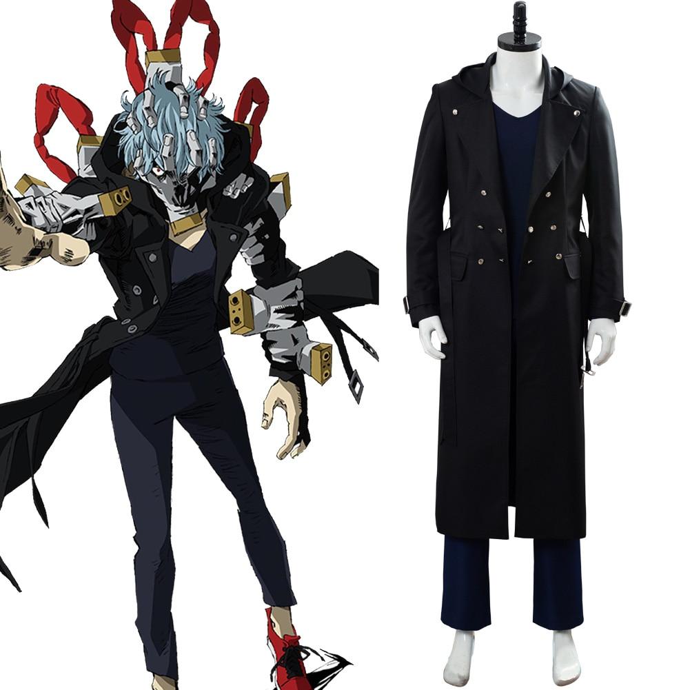 My Hero Academia Shigaraki Tomura Cosplay Costume Adult Men Women Black Trench Uniform Suit Costumes
