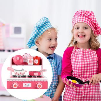 Wooden Kitchen Toy Set With Sink Cabinets Safe Material Durable Pretend Toy Set For Little Girls Pink