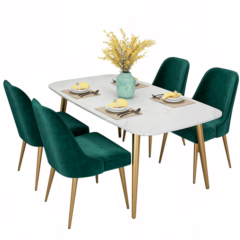 Nordic Light Luxury Dining Chair Modern Simple Sallanan Sandalye Fauteuil Moderne Living Room Furniture Sillon Reclinable