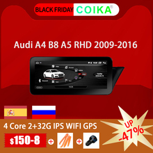 Android 10.0 System odbiornik GPS dla Audi A4 A5 2009 2016 RHD IPS ekran lustrzany Radio Google Carplay WIFI BT SWC DVR Multimedia