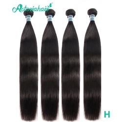 Asteria Hair-mechones de cabello liso peruano, 10-28 pulgadas, negro Natural, peruano, 4 extensiones de cabello humano mechones, ofertas, Remy