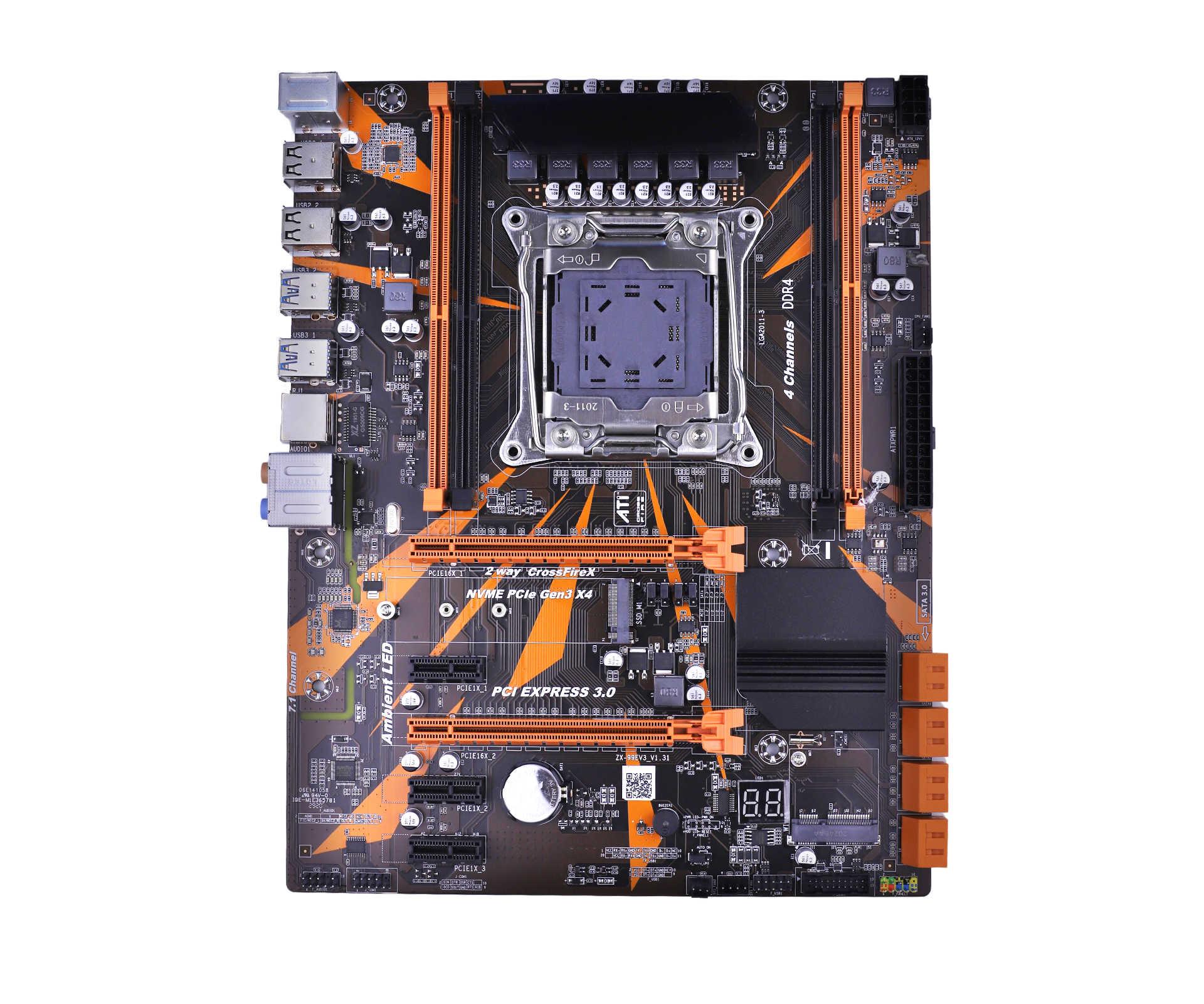 LGA 2011 V3 Motherboard X99 REG ECC SATA 3,0 Mit M.2 NVME SSD USB 3,0 Speicher DDR4 64G 2011 3 Mainboard LGA2011-3 für I7 Xeon E5