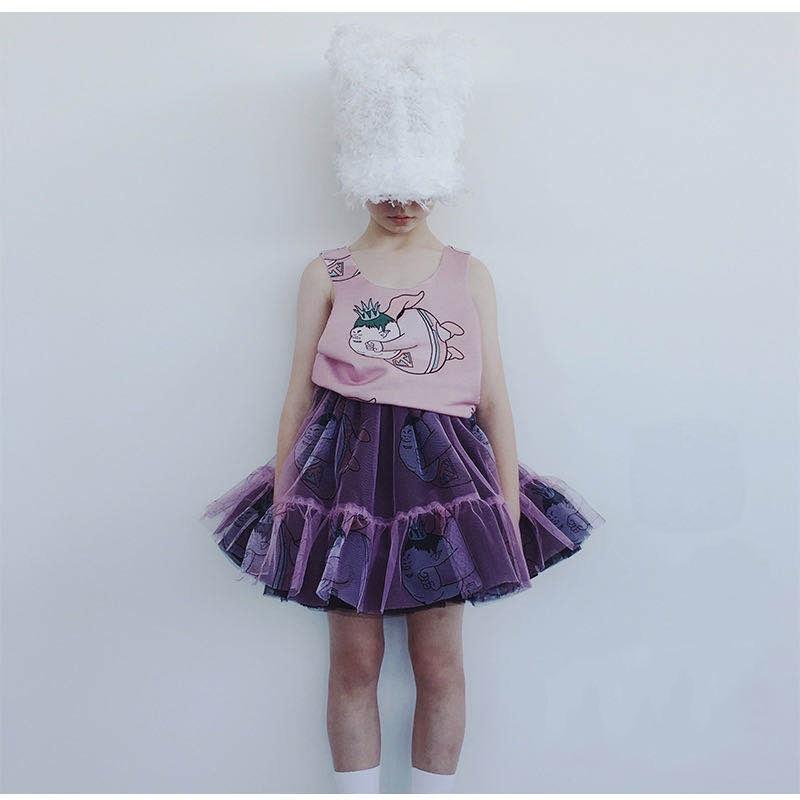 Girls Clothing Sets 2021 Summer Caroline Baby Flower T-shirt Cartoon Tutu Skirts Caps Girl Dress Party Suits Children Clothes 3