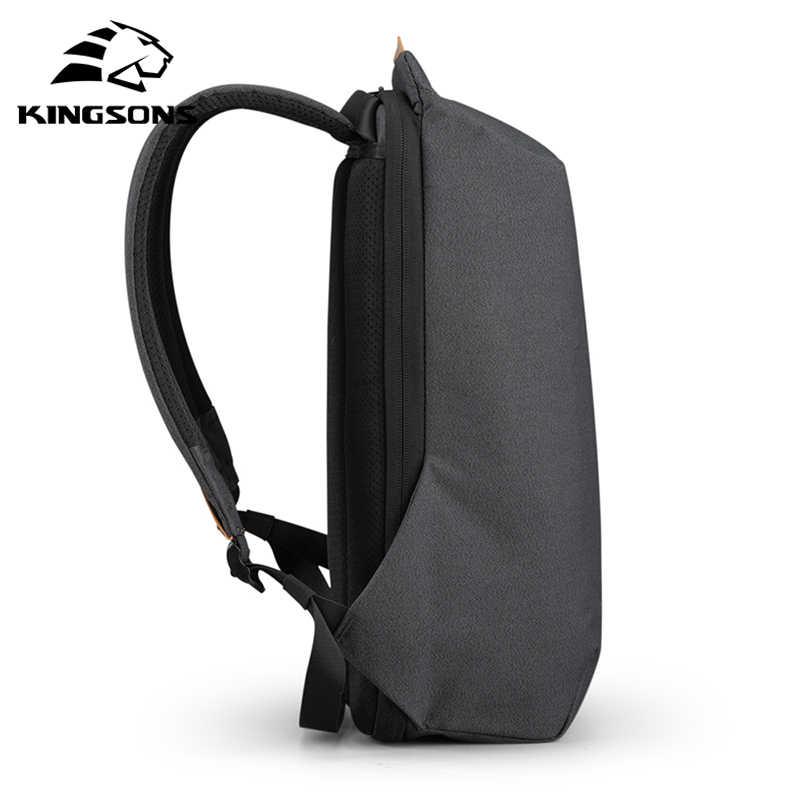 Kingsons mochila multifuncional masculina carregador usb, nova bolsa de viagem a prova d'água para notebooks, a prova de roubo estilosa, 2020