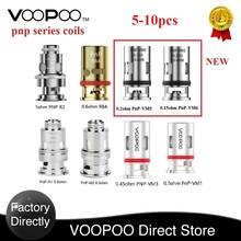 5-10 sztuk VOOPOO PnP cewki 0 15ohm PnP-VM6 0 2ohm PnP-VM5 0 6ohm RBA cewki dla VOOPOO przeciągnij S przeciągnij X Vinci X VINCI Mod Pod zestaw tanie tanio VOOPOO PnP-VM1 Mesh Coil DS NC 5pcs pack
