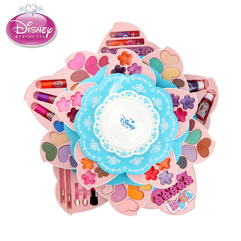 Disney Princess Frozen Flower Shape Make Up Set For Girl Toys  Pretend Play Makeup Disney Princess Toys