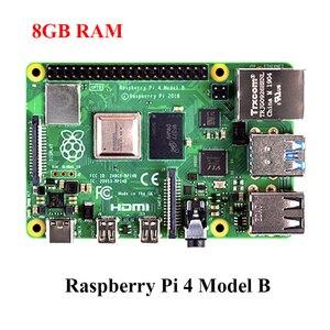 Oryginalny Raspberry Pi 4 Model B 8GB RAM 2.4G i 5G WiFi Bluetooth 5.0 etui z ABS zasilacz Raspberry Pi 4B RPI 4B
