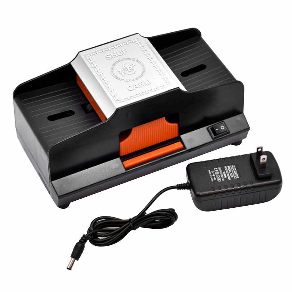 Professional Card Shuffler 4 4 Decks High Speed Automatic Plastic