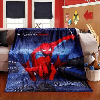 kids Cartoon iron Man Spiderman Blanket Cartoon Printed Soft Boy Girl Baby Coral Fleece Blankets Thick Warm Sofa Bed Sheets 5