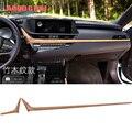 Автомобильный Стайлинг  2 шт.  деревянная консоль  крышка для приборной панели  накладка  подходит для Lexus ES200 ES260 ES300h 2018-2019