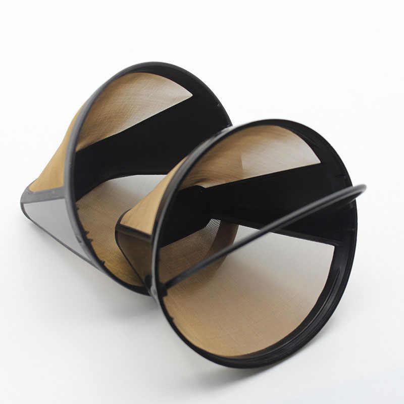 Аксессуары для кофеварок из нержавеющей стали многоразовые Кухонные гаджеты в стиле конуса фильтр для кофе посуда ручной работы 1 шт.