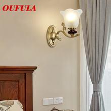 Комнатные Настенные светильники oufula медные современные светодиодсветодиодный