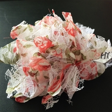 1 Pcs/lot Girls Headwear Shabby Flowers Chiffon Hairband Kids Flower Headbands Childrens Hair Accessories