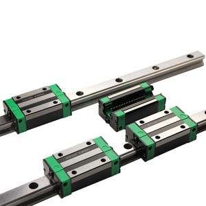Image 4 - 2PCS HGR20 HGH20 כיכר ינארית מדריך Rail כל אורך + 4PCS שקופיות בלוק תובלה HGH20CA /Flang HGW20CC חלקי CNC נתב חריטה