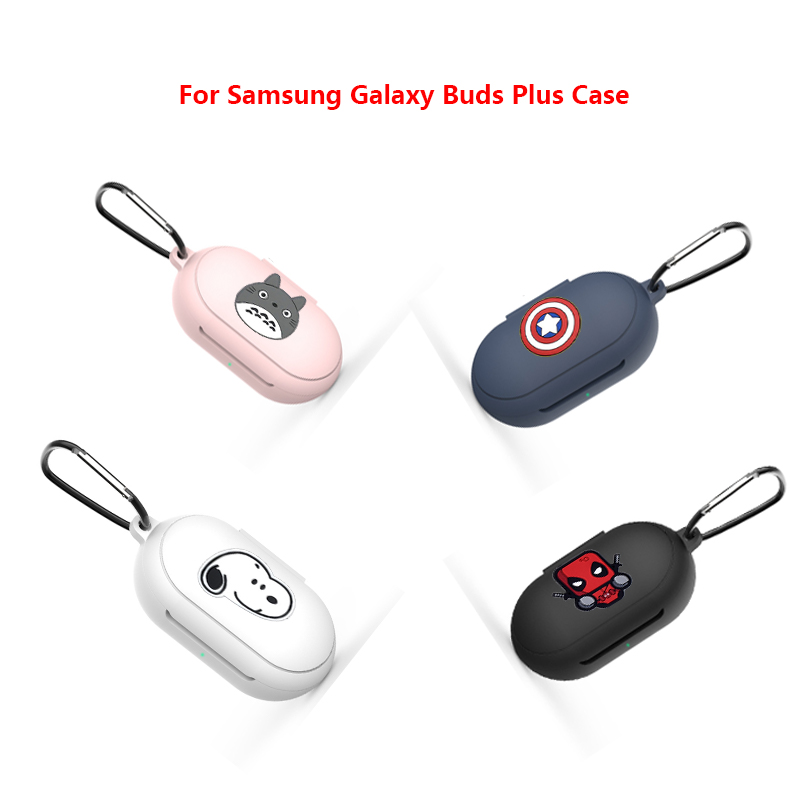 Cartoon Marvel Case For Samsung Buds & Buds+ Wireless Earphone Full Case Cover TPU Silicone Protective Funda