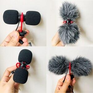 Image 5 - Sairen t mic duplo cabeça super cardióide estéreo registro microfone sem fio na câmera dslr shutgun microfone entrevista ao vivo streaming