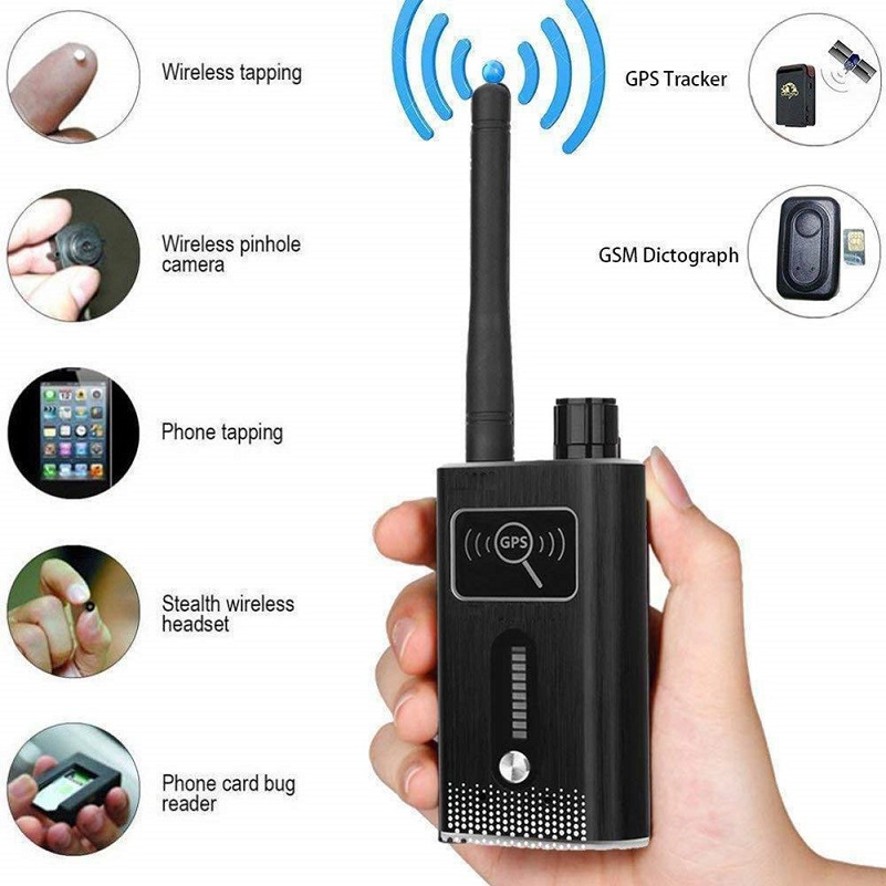 T6000 Wiretap Gps Jammer Signal Blocker Bug Detector Spy Camera Hidden Camera GSM GPS Tracker RF Signal Spy Devices Finder