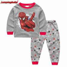 Jumpingbaby 2019 Boys Christmas Pajamas Kids Superman Pajama