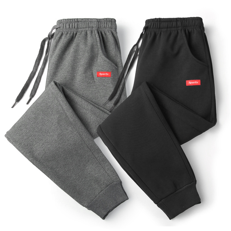 Men Pants Cotton Casual Mens Track Pants Long Solid Color Sweatpants Men Fashion Thin Trousers Fitness Pants Work Out