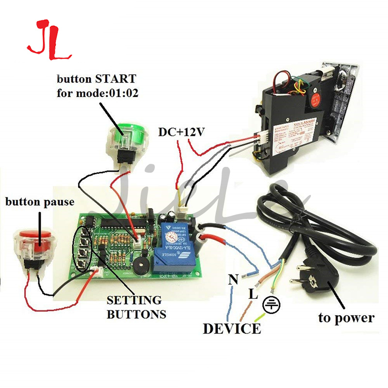 Factory Price Control Timer Board Power JY-15B With 40cm White Lead Time Supply For Coin Acceptor Selector