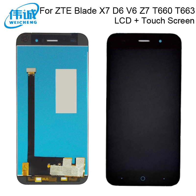 WEICHENG 5.0 inch LCD screen For ZTE Blade X7 D6 V6 Z7 T660 T663 LCD Display with Touch Screen Digitizer +Free Tools image